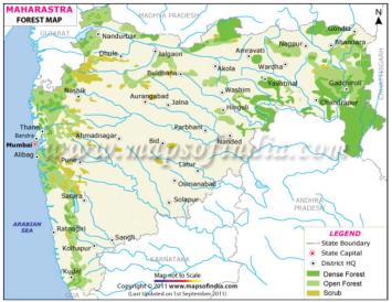 Forest map of Maharashtra